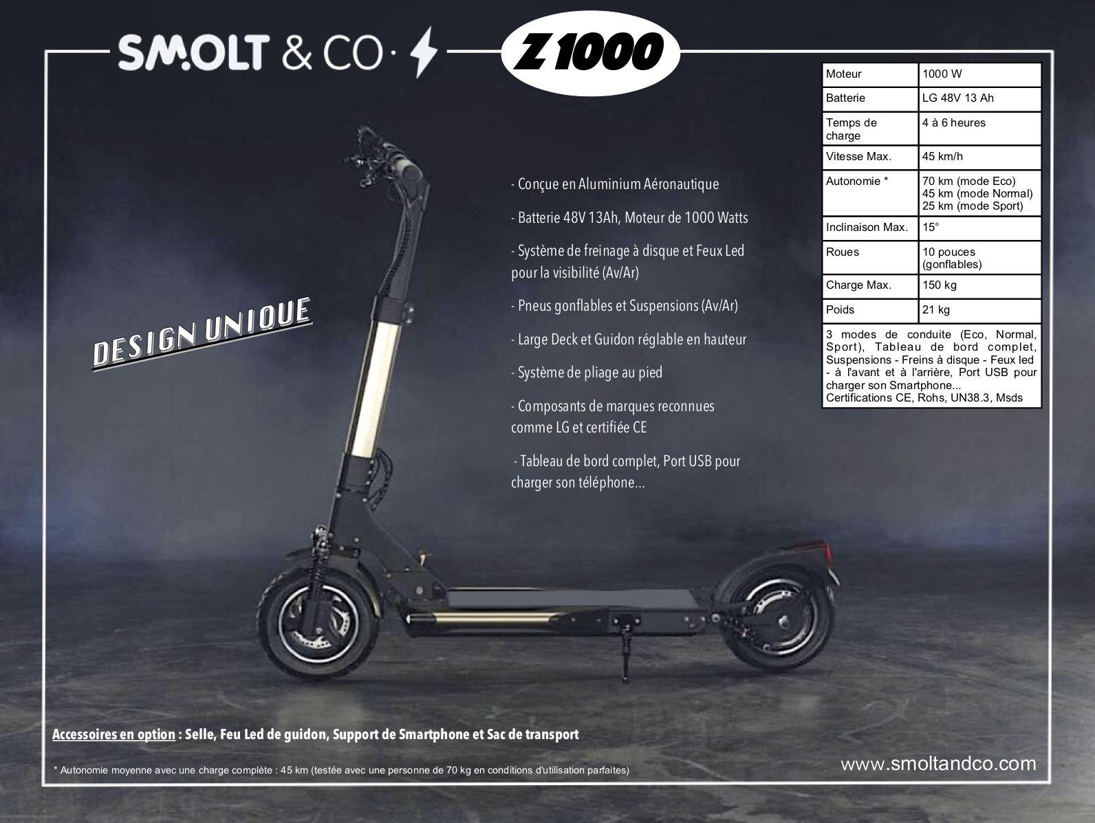 Trottinette électrique Z1000 fiche produit